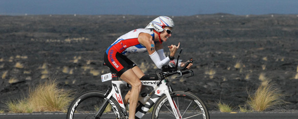 COACH SBR competing in IRONMAN World Championship in Kona, Hawaii on the bike