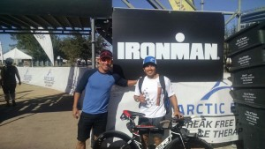IRONMAN ARIZONA 2015 TEAM ELITE triathletes Duc and Francisco